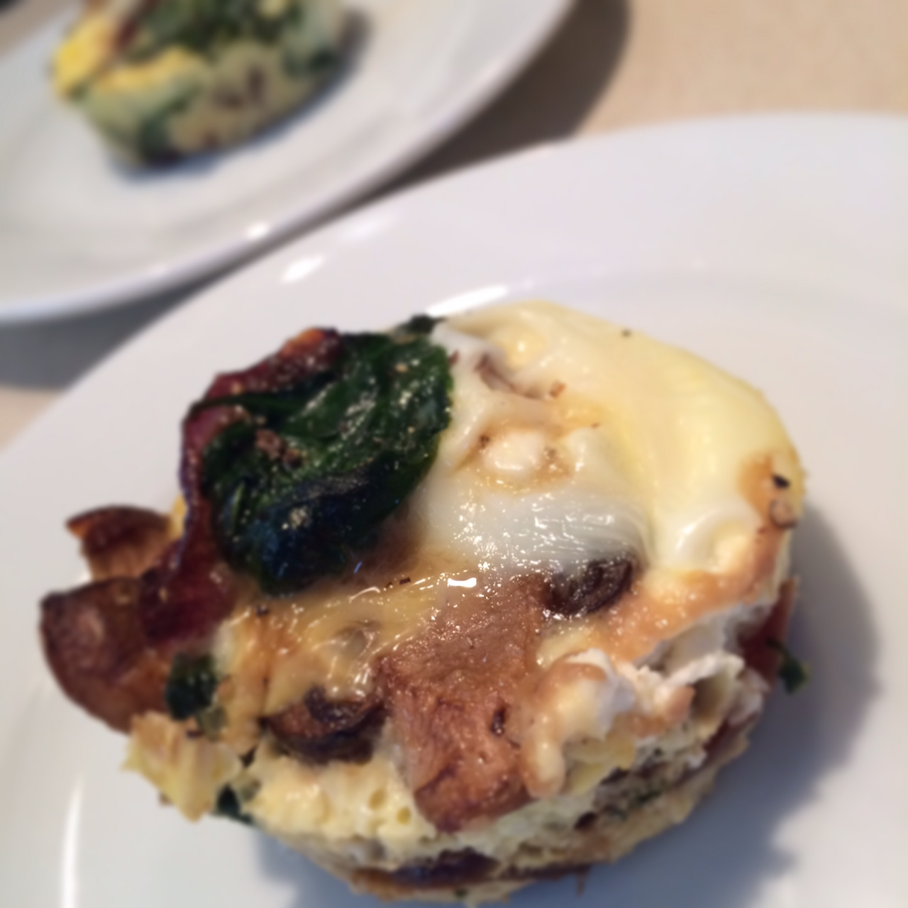 Mini frittatas with spinach, mushroom and goat cheese ...