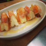 Shrimp with buerre blanc