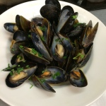 Sad little mussels mariniere.