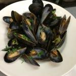 Sad little mussels mariniere.